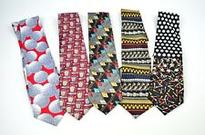 Lot of 5 Men's Golf Theme Neck Ties Unbranded Salesman Samples w/Tags FREE SHIP