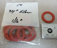 "Pkg/10, 3/4"" x 1/16"" FIBER Water Meter Gaskets, for 5/8"" x 3/4, or 3/4"" meter"