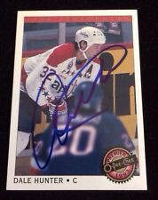 DALE HUNTER 1992 1993 OPC  Autographed Signed AUTO HOCKEY Card CAPITALS 2