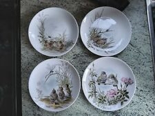 More details for kaiser germany set of 4 decorative  plates with baby birds pattern