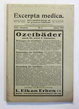 Graetzer Excerpta medica Auszüge aus der gesamten Fachliteratur 14. Jg. 1915 xz