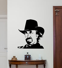 Chuck Norris Wall Decal Bedroom Vinyl Sticker Poster Movie Decor Art Mural 52hor