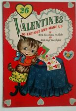 1945 Vintage Valentine Book with 26 Valentines with cut out envelopes