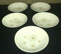 "(5) Royal China Ironstone STAR GLOW 5 1/2"" Fruit / Dessert Bowls"
