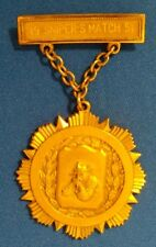 EARLY SNIPER MATCH 1951 Frankford Arsenal Rifle Club Competition Badge GOLD DCM