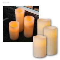 30-4 TV Werbung LED Echtwachs Apfelduft Kerzen Set 4-teilig Timer Wachskerzen