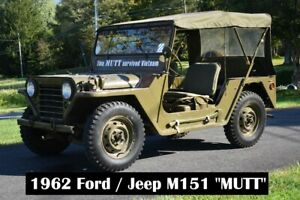 """1962 M151 """"MUTT"""" BUILT BY KAISER JEEP USED DURING THE VIETNAM ERA EX. COND"""