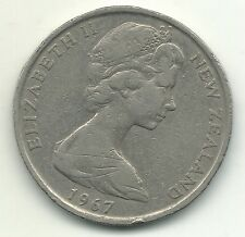 Very Nice 1967 New Zealand 50 Cents Endeavour Ship Coin-Mar206