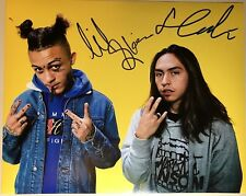 Lil Skies Landon Cube Dual Signed 8x10 Photo Autograph Nowadays Red Roses