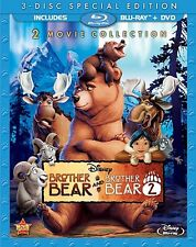Brother Bear & Brother Bear 2 [Blu-ray + DVD, 2 Movies, Region A, 3-Disc] NEW