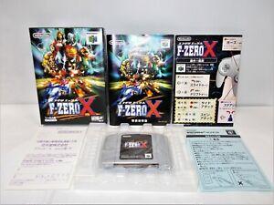 N64 -- F-Zero X -- Boxed. CanSave! Nintendo 64, JAPAN. Racing. 20700