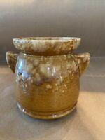 glazed pottery vase Jar Mcm Handled bean Pot