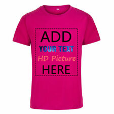Custom Printed Your Own Design Logo Name Personalized Men's  T-Shirt Tops Tee
