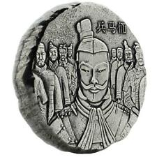 2018 5 oz Terracotta Army .999 Fine Silver Antique Polished Coin #A471