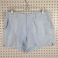 Calvin Klein Jeans Light Blue Summer Linen Cotton Blend Preppy Shorts Size 12