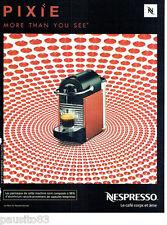PUBLICITE ADVERTISING 086  2012  la machine à café Nespresso  Pixie
