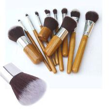 11Pcs Makeup Brushes Set/Kit  Professional Bamboo Handle Brush Premium Goat Hair