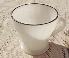 VINTAGE 1950's ANCHOR HOCKING FIRE-KING MILK GLASS SUGAR BOWL - MADE IN USA