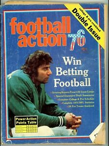 1976 Football Action Double Issue Pro College Joe Namath Cover Win Betting