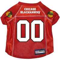 NEW CHICAGO BLACKHAWKS PET DOG PREMIUM ALTERNATE JERSEY w/NAME TAG ALL SIZES