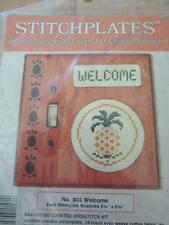 WOODEN SWITCHPLATE COUNTED CROSS STITCH KIT PINEAPPLE GOOD LUCK MOTIF WELCOME