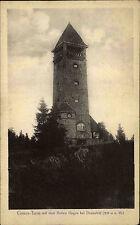 Hoher Hagen bei Dransfeld Niedersachsen AK 1921 Gauss Turm Gebäude ungelaufen