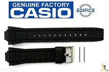 CASIO EFR-519 Edifice Original 20mm Black Rubber Watch Band Strap w/ 2 Pins