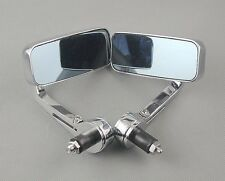 """CHROME UNIVERSAL 7/8"""" HANDLE/BAR END MIRRORS MOTORCYCLE REAR VIEW SIDE MIRROR"""