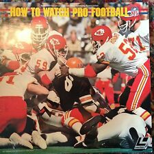How To Watch Pro Football -  Laserdisc Buy 6 for free shipping