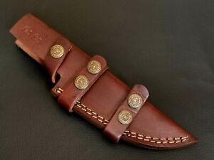 "9"" INCH CUSTOM HAND MADE COWHIDE LEATHER SHEATH FOR KNIFE CF-1831"