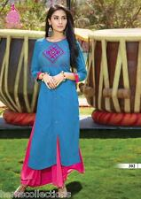 Fancy Designer Heavy Rayon Cotton Embroidered Kurti, Kurta,Tunic in XXL Size
