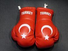 Paar Mini Boxhandschuhe Türkei für Auto Innenspiegel Turkey Kunstleder Geschenk