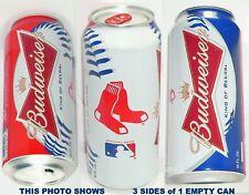 2014 BOSTON RED SOX MAJOR LEAGUE BASEBALL BUDWEISER PINT BUD MLB SPORTS BEER CAN