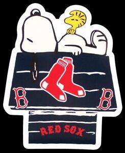 Boston Red Sox MAGNET custom Die Cut Snoopy Woodstock Baseball MLB Redsox