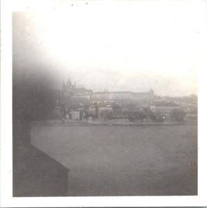 République Tchèque, Prague, la Moldau  Vintage print,  Tirage argentique  9x