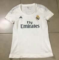 Adidas Women's Real Madrid FLY EMIRATES Soccer Jersey Sz S small football shirt