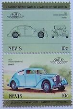 1934 VOISIN AERODYNE Car Stamps (Leaders of the World / Auto 100)