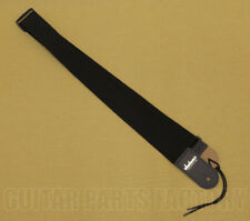 """NEW Jackson Logo 2/"""" Rayon Guitar Strap With Leather Ends BLACK #299-0664-006"""