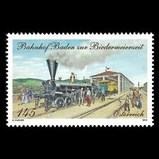 Austria 2013 - Baden Train Station During the Biedermeier Period - Sc 2426 MNH
