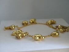 375 9ct Yellow Gold Charm Bracelet With Charms * Fully Hallmarked