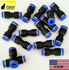 "10 Pcs Air Pneumatic 4mm to 4mm 5/32"" Straight Push in Connector"