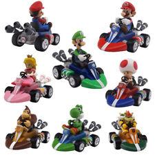 """4.7"""" 6 Pcs Super Mario Bros Mini Kart Pullback Figure Collectable Doll Toys Kid"""