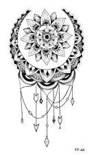 High Quality 19cm x 9cm Fake Temporary Tattoo Mandala Lotus Flower Moon /-b646-/