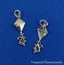 .925 Sterling Silver KITE CHARM PENDANT *NEW*
