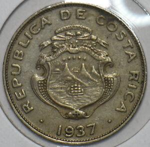 Costa Rica 1937 25 Centimos 196206 combine shipping