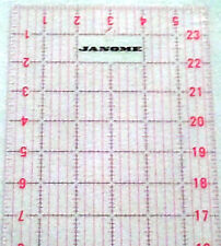 """JANOME 24"""" x 6"""" IMPERIAL RULER LEFT&RIGHT HAND USE, PATCHWORK,SEWING CRAFT BNEW"""