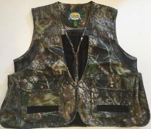 Cabelas Mossy Oak Breakup Camo Hunting Vest XL Large Pockets