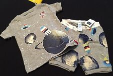 NWT BABY GAP INFANT BOYS SUMMER 2PC PAJAMAS GLOW-IN-THE-DARK SPACE SIZE 6-12 MOS