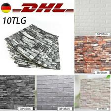 10-tlg 3D-Tapete Selbstklebend Wandpaneele Wandaufkleber Ziegelstein 38X35CM