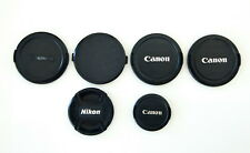 6 Lens Caps: Canon, Nikon, Unbranded, 72mm 62mm 52mm